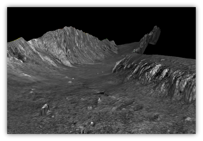 Mosaic generated by SIPS Backscatter engine (Image: Teledyne CARIS)