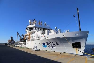 NOAA Ship Henry B. Bigelow alongside in Newport, R.I. (Photo: NOAA)