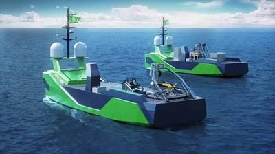 Ocean Infinity's unmanned surface vessels - File image: Ocean Infinity