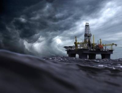 Offshore rig in storm: File Image CCL