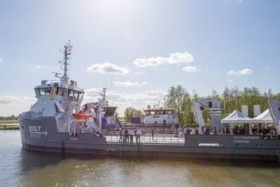 The open day at UV 4312 Fish Farm Support Vessel  (Photo: Damen Shipyards)