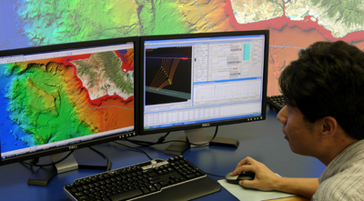 An operator performing in-office simulations of a cable lay during Makai's training course. (Photo: Makai)