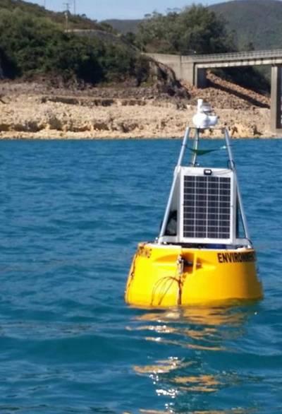 OSIL's 1.2 meter Shearwater buoy (Photo courtesy of OSIL)