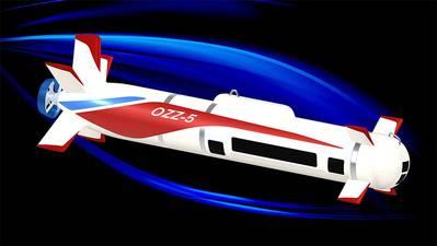 OZZ-5, autonomous underwater mine countermeasure vehicle. Image courtesy MHI