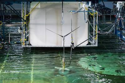 PelaStar Model Testing: Photo courtesey of Glosten