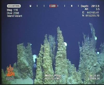 Photo from the Norwegian Petroleum Directorate's recent deep sea mineral exploration mission - Credit: NPD