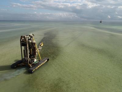 The PROD2 seabed drilling and geotechnical testing system. Photo courtesy Benthic