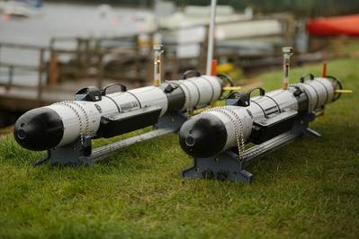 Project Wilton Iver AUVs. Photo from SeeByte