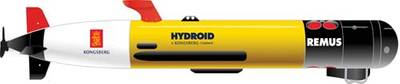 The REMUS 100 a compact light-weight Autonomous Underwater Vehicle.