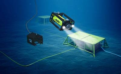 Render of the ARV-i in operation underwater (Image: Boxfish Research / Transmark Subsea)