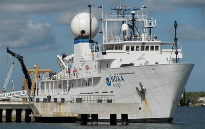 Research ship: Photo courtesy of NOAA