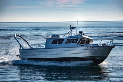 The 40' x 13' research vessel Nanuq recently entered service for the University of Alaska Fairbanks College of Fisheries and Ocean Sciences. Image Credit: Armstrong Marine
