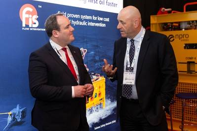 Scottish Government minister for Energy, Connectivity and the Islands, Paul Wheelhouse MSP with Ian Donald, Enpro Subsea managing director (Photo: Enpro Subsea)