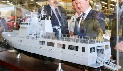 SEA1180 Offshore Patrol Vessel Model - Credit: Australian Navy