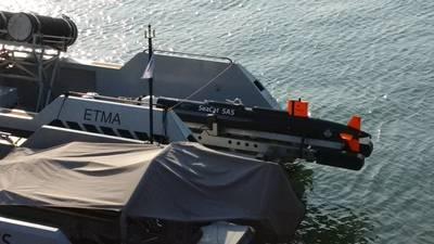SeaCat SAS during initial testing on ARCIMS USV with Kraken MINSAS in June 2017 (Photo: Kraken)