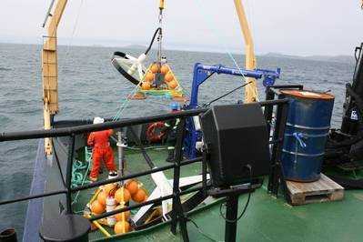 Seaformatics PHBM being deployed in Placentia Bay (Photo: Seaformatics Systems)