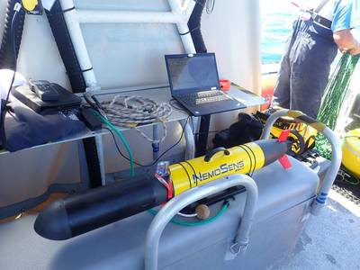 Seatronics and RTSYS are at Ocean Business 2021 in Southampton this week to perform a live demonstration of the Comet-300 AUV. Image courtesy RTSYS