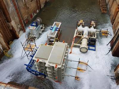 Siemens testing its subsea power distribution system. Photo from Siemens.