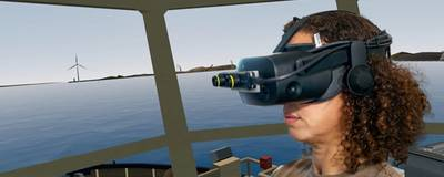 SimFlex Cloud can also be used in Augmented and Virtual reality with headsets supplied by Force Technology. Photo courtesy Force Technology