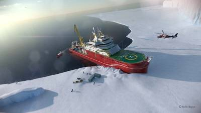 Sonardyne's Ranger 2 will support the RRS Sir David Attenborough's work by enabling science teams to precisely monitor the position of underwater systems including Boaty McBoatface. (Image: Sonardyne)