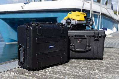 Sonardyne's updated Micro-Ranger 2 USBL system contains everything needed to track divers, ROVS and AUVs in a rugged case small enough to operate-anywhere, from anything. Photo by Tom Acton/Sonardyne.