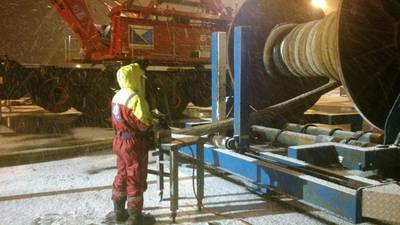 Spooling Wire in Mongstad Base: Photo credit IOS InterMoor