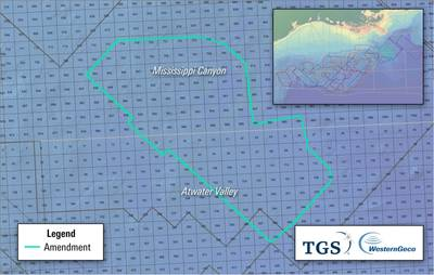 The strategic collaboration for the multiclient sparse node program will create a data set utilizing high-end imaging to serve clients in field development phases and also enable near-field exploration in the congested areas within the U.S. Gulf of Mexico. (Image: TGS)