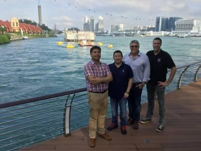 SIT 250 tidal platform located in front of Sentosa Boardwalk, Singapore (Photo: SCHOTTEL HYDRO)