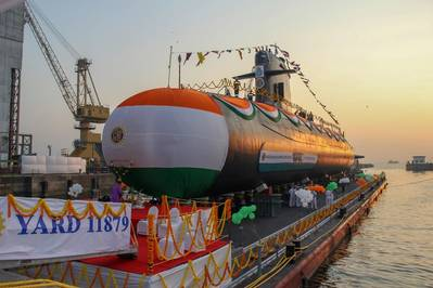 INS Vagir is the fifth P75 Scorpene submarine entirely built by the Indian shipyard Mazagon Dock Shipbuilders Limited (MDL). Photo: Naval Group