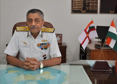 Vice Admiral Vinay Badhwar (Photo courtesy of UKHO)