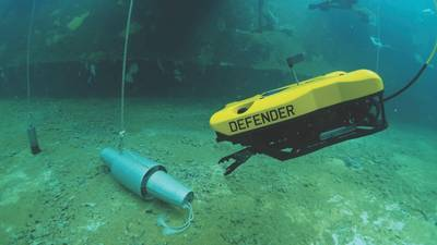 The VideoRay Defender ROV requires a robust, high-density power delivery network (PDN) for powerful thrust to enable acute maneuverability under challenging conditions. (Photo: VideoRay)
