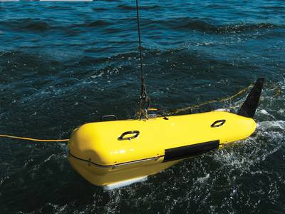 C3D on the water. (Credit: Teledyne)