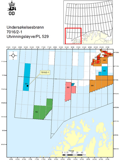 Well location: Image courtesy ofNorwegian Petroleum Directorate