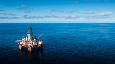 Η γεώτρηση Δυτικού Ηρακλή στη Θάλασσα του Μπάρεντς. (Φωτογραφία: Ole Jørgen Bratland / Equinor)