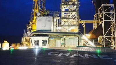 منصة Grane في بحر الشمال. (الصورة: Harald Pettersen / Equinor ASA)