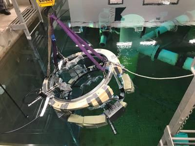 परीक्षण के लिए आरआईएमसीएडब्लू रोबोट तैनात किया जा रहा है (फोटो: TWI)