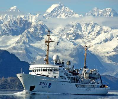 文件照片:NOAA船舶Fairweather正在阿拉斯加进行(照片:NOAA)