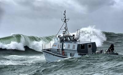 英国皇家海军新的水文调查船HMS Magpie(照片:皇家海军)