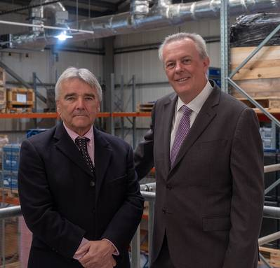(LR) Brian Phillips de Chelsea y John Ramsden, Sonardyne. (Foto: Sonardyne)