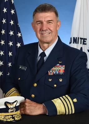 Almirante Karl Schultz - Comandante da Guarda Costeira dos EUA. De Stock: Guarda costeira dos EU