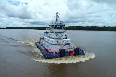 Entlang des Amazonas-Systems werden von Hidrovias do Brasil SA zwei neue, speziell für Robert Allan Ltd entwickelte Schubschlepper betrieben (Foto: Robert Allan Ltd).
