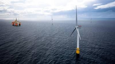 EquinorのHywind Tampenプロジェクトでは、浮体式風力タービンを使用して、SnorreおよびGullfaksの石油およびガス生産施設に電力を供給します。 (画像:Equinor)