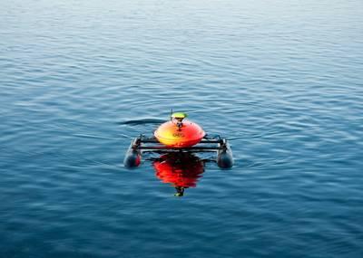 EvoLogics的Sonobot,一种用于测深测量的自主USV。照片:EvoLogics