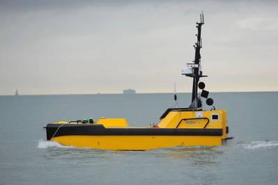 L-ASV's C-Worker 7 عبارة عن سفينة مستقلة متعددة الطبقات من فئة العمل مناسبة للمهام البحرية والساحلية. (الصورة: Business Wire)