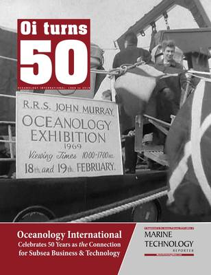 Ο Marine Technology Reporter δημοσίευσε ένα συμπλήρωμα για να γιορτάσει την 50ή επέτειο της Oceanology International. Φωτογραφία: MTR