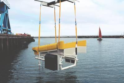 Modus Seabed Interventionsfahrzeug für Offshore Wind Docking Station (Foto: Osbit)