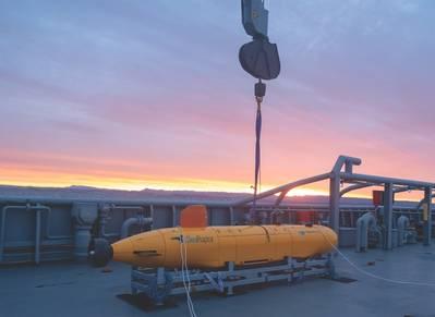 Η Teledyne Gavia θα παρουσιάσει επίσημα το νέο της AUV - SeaRaptor, 6000 μέτρων, στο Ocean Business 2019 στο Southampton τον Απρίλιο.
