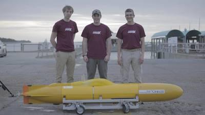 Η Virginia DEEP-X αναπτύσσει μικρά και χαμηλού κόστους υποβρύχια οχήματα που λειτουργούν σε συντονισμένες ομάδες. (Φωτογραφία: Zakee Kuduro-Thomas)