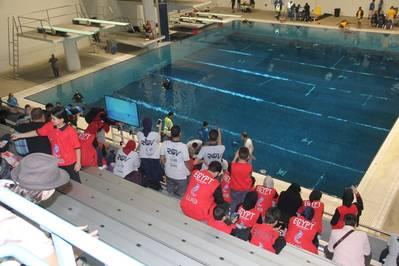 La competencia internacional de ROV de 2018 MATE se llevó a cabo en el King County Aquatic Center en Federal Way, Washington. (Foto: MATE)