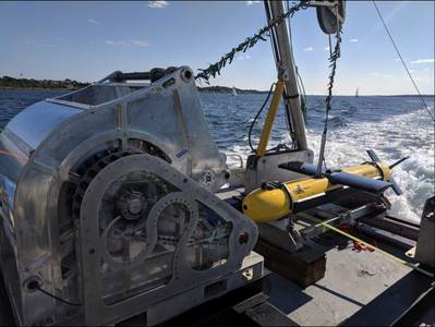 El sistema de inteligencia y cartografía marinos expedicionarios SeaScout se desplegó durante ANTX2018 (Foto: Kraken Robotics Inc.)